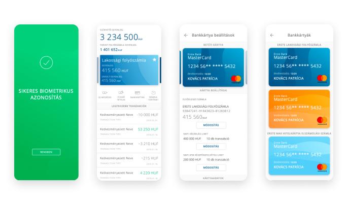 erste mobile bank screens