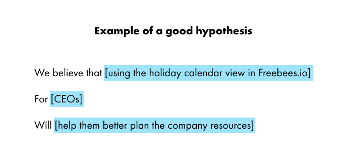 Good hypothesis example