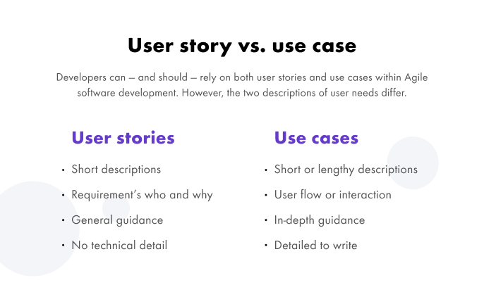 use case vs user story compared